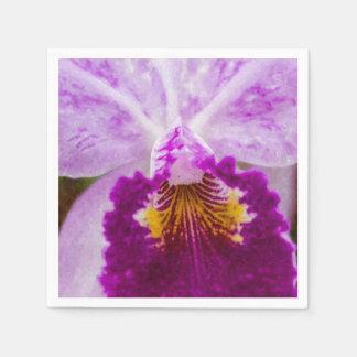 Purple Passion Orchid Disposable Napkin