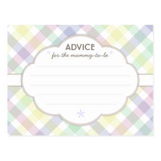 baby shower advice postcards