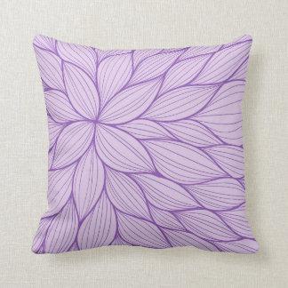Purple Pastel Petal Watercolor Pillow