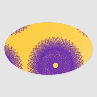 purple patches oval sticker
