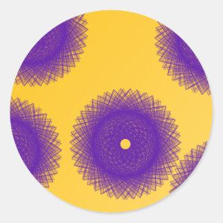 purple patches round sticker