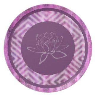 Purple Patina: Lotus Plate