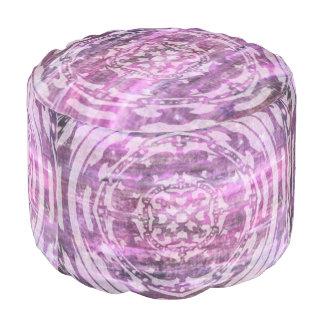 Purple Patina: Mandala Pouf