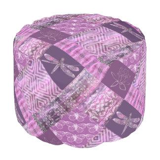 Purple Patina: Mosaic Pouf