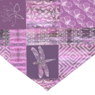 Purple Patina: Mosaic Short Table Runner