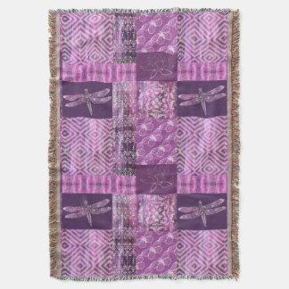 Purple Patina: Mosaic Throw Blanket