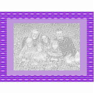 Purple patterm standing photo sculpture