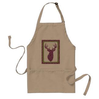 Purple Pattern Deer head Standard Apron