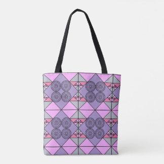 Purple pattern design tote bag