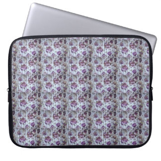 Purple Pattern  flowes  Electronics Bag
