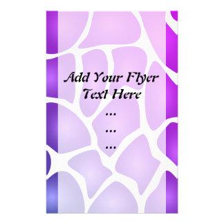 Purple Pattern Full Color Flyer