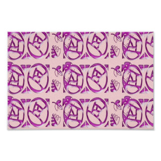 Purple Pattern : Match Wall Deco Graphic Abstract Poster