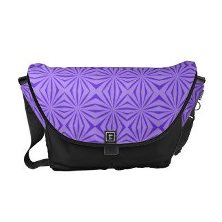 Purple Pattern Rickshaw Messenger Bag