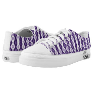 Purple patterns low tops