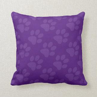Purple Paw Prints Cushion