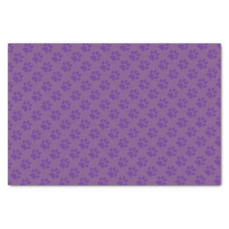 Purple Paw Prints Tissue Paper