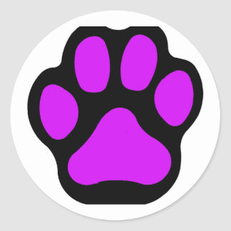 Purple Paw Stickers