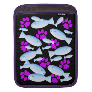 Purple Paws and Blue Fish iPad Sleeves