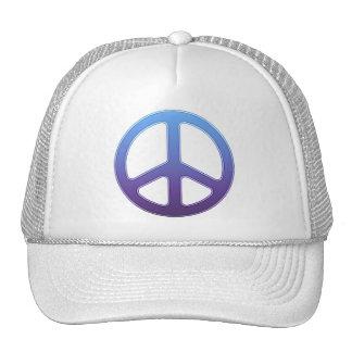 Purple Peace Sign Trucker Hat