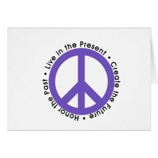 Purple Peace Sign Card