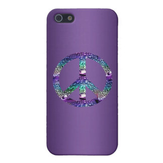Purple Peace Sign Case Too iPhone 5 Cases
