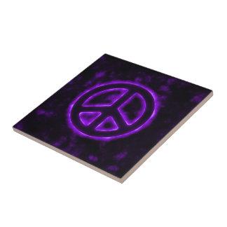 Purple Peace Sign Tile