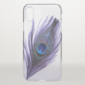 Purple Peacock Feather iPhone X Case