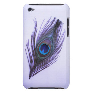 Purple Peacock Feather iPod Barely There Case