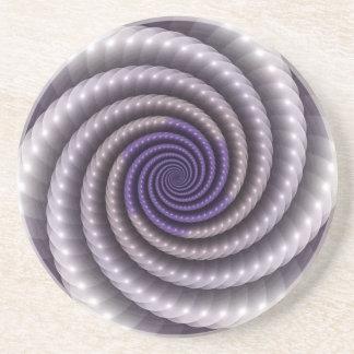 Purple Pearl Fractal Beverage Coaster