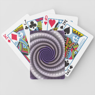 Purple Pearl Fractal Bicycle Playing Cards