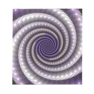 Purple Pearl Fractal Notepad