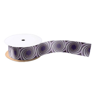 Purple Pearl Fractal Satin Ribbon