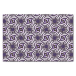 Purple Pearl Fractal Tissue Paper