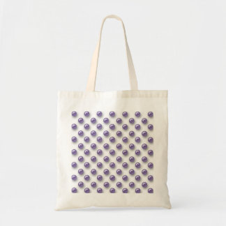 Purple Pearls Elegant Party Canvas Bag
