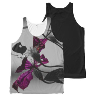 Purple Pedals All-Over Print Tank Top