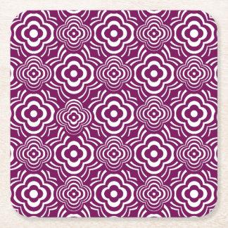 Purple Peddler Square Paper Coaster