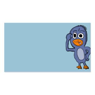 Purple Penguin business Cards