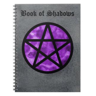 Purple Pentacle Book of Shadows Notebook 2
