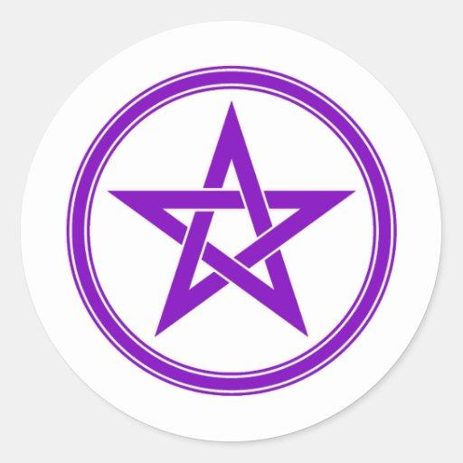 Purple Pentacle Pentagram Stickers
