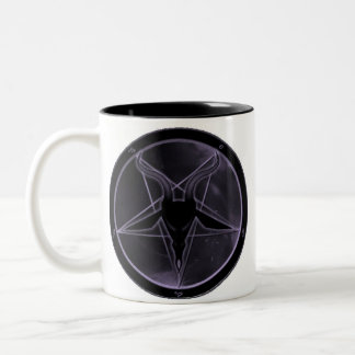 Purple Pentagram Two-Tone Coffee Mug