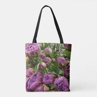Purple Peonie Classic Tote Bag lk