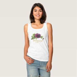 Purple Peony Swag Bridesmaid Name ID456 Singlet