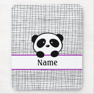 Purple Personalized Panda Mouse Pad