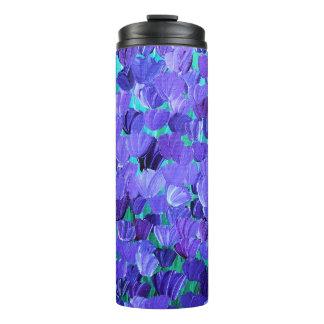 Purple Petals Thermal Tumbler