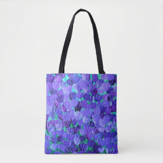 Purple Petals Tote Bag