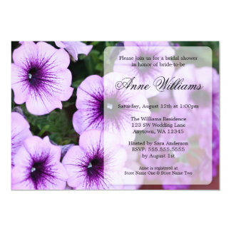 Purple Petunia Bridal Shower Invitations