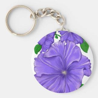 Purple Petunia Key Ring