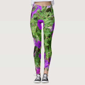 Purple petunia leggings