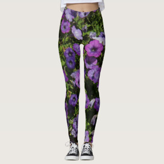 Purple Petunia Leggings