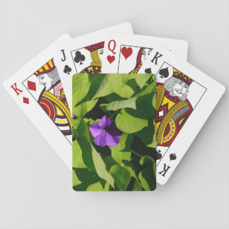 Purple Petunia Playing Cards